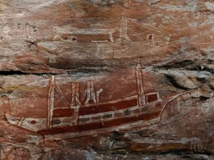 Magnificent rock art of the exclusive and difficult to reach Arnhem Land escarpment country
