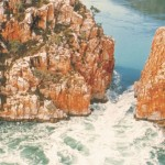 Fly low for a great view of the Horizontal Falls, Kimberley Coastline.