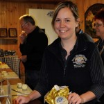 The best cheese in Australia, served in an immaculate tasting room by this welcoming, lovely young lass, at the King Island Cheese Factory.