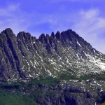 Cradle Mountain, Tasmania's iconic feature, holds snow late into the summer most years.